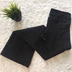lululemon • black flare athletic yoga pants